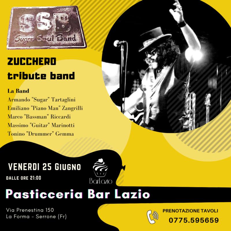 ssb sugar soul band zucchero tribute band pasticceria bar lazio